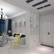 纯白色调客厅图