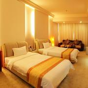 暖色调商务酒店设计