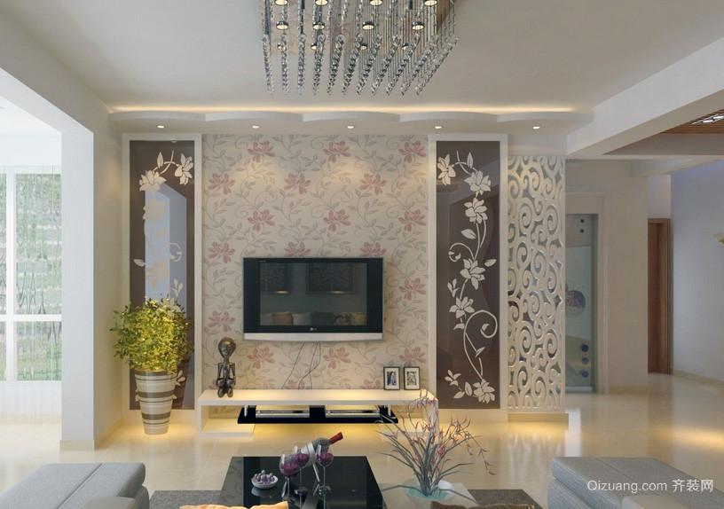 大户型欧式客厅电视机背景墙装修效果图