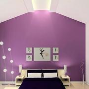 紫色调背景墙效果图
