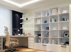 纯色调书房设计图