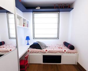 现代简约风格书房榻榻米床装饰