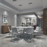 简约欧式白色精简型客厅