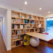 开放式书房书架展示