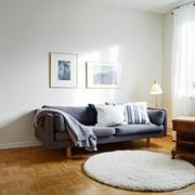 北欧清新风格原木客厅地板装饰