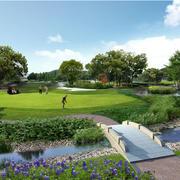 景观优美的高尔夫球场