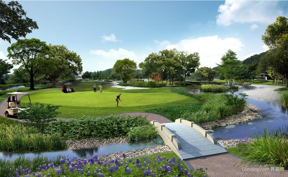 大型北京高尔夫球场设计装修效果图