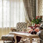 法式风格别墅客厅飘窗装饰