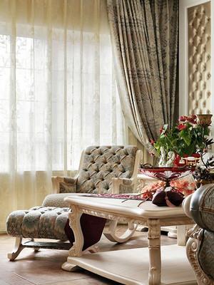 法式风格简约别墅客厅装饰效果图