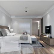 简约欧式白色精简型卧室