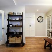 家居实木置物架展示