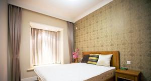 温暖田园小户型卧室液体壁纸效果图