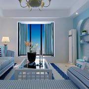 蓝白色简约风格家居装饰