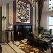 法式风格别墅客厅壁炉装饰
