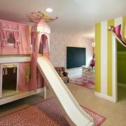 唯美色调儿童房效果图