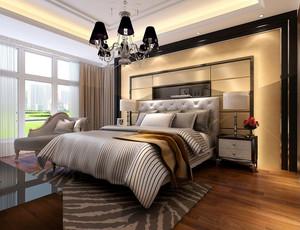 跃层简洁系列卧室背景墙装修效果图