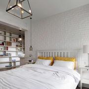 后现代风格白色卧室背景墙
