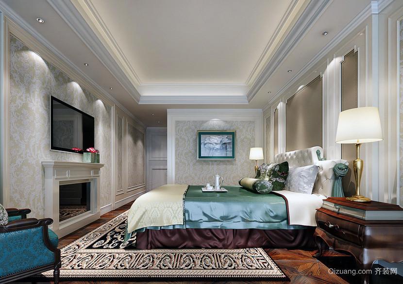 现代欧式大户型卧室装修效果图