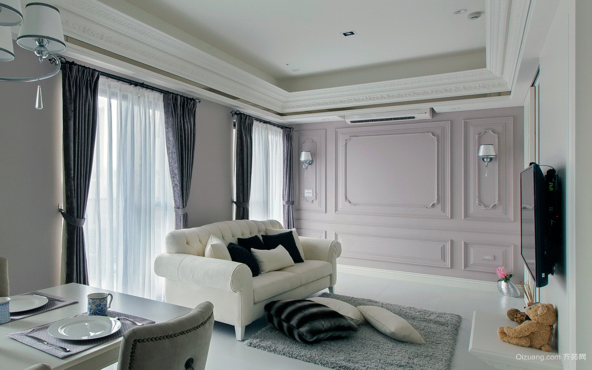 150平米超大户型三室一厅装修图例