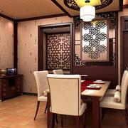 中式酒楼简约包厢灯饰效果图