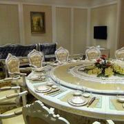 欧式奢华田园风格酒楼桌椅装饰