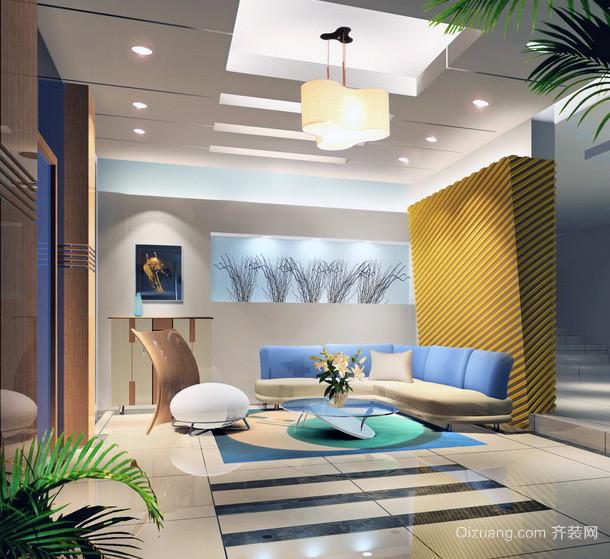 现代大户型室内吊顶装修效果图