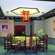 中式酒楼包间吊顶装饰