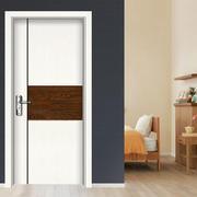 现代简约风格白色卧室木门装饰