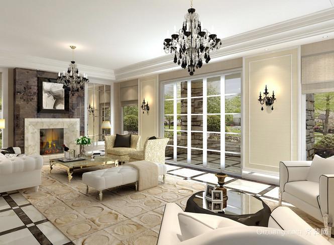 奢华欧式风格别墅客厅装修效果图