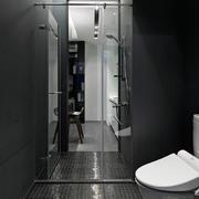 公寓卫生间玻璃隔断门