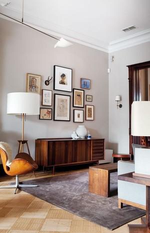 110㎡美式风格大户型照片墙装修设计效果图