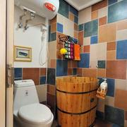 地中海风格卫生间拼色瓷砖装饰