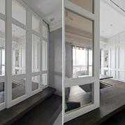三室一厅卧室白色简约隔断