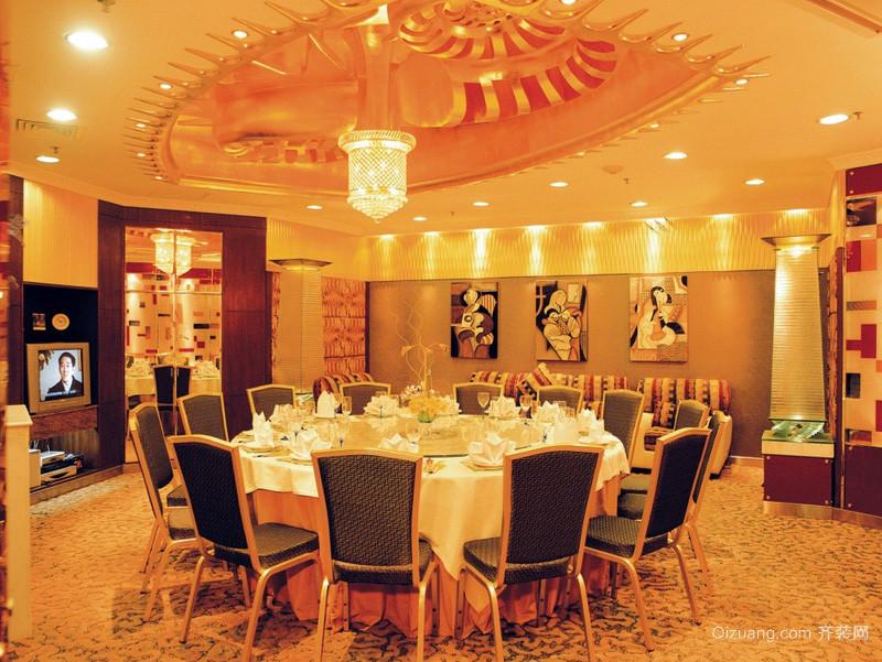 中式豪华型酒楼设计装修效果图