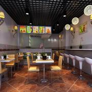 奶茶店地板砖效果图