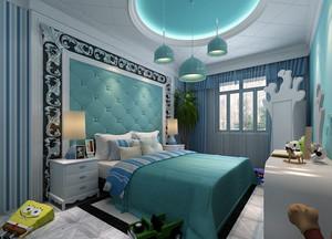 地中海风格大卧室背景墙装修效果图