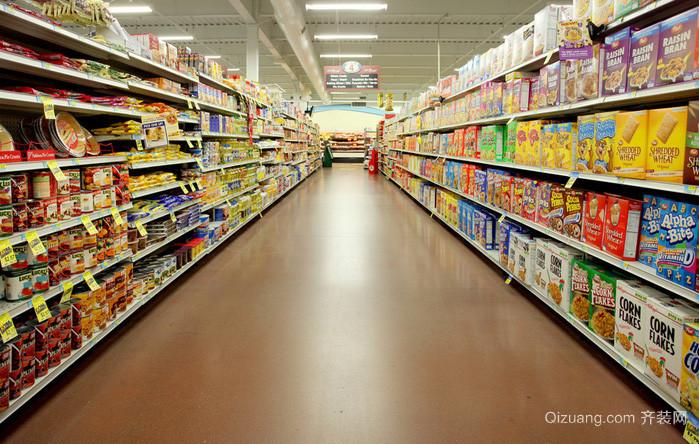 大型品牌超市设计装修效果图