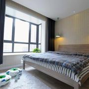 三室一厅卧室简约背景墙