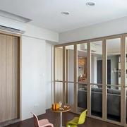 后现代简约风格原木浅色卧室门装饰