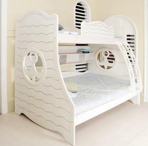 素雅简约儿童高低实木床装修效果图