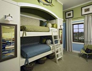 欧式奢华风格儿童房上下铺装修效果图