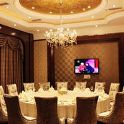 欧式酒楼奢华包厢电视背景墙装饰