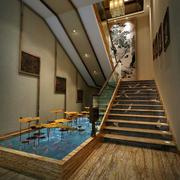 酒楼楼梯效果图片