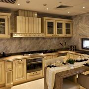别墅自然风格厨房装修效果图