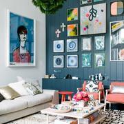 85平米宜家风格小户型照片墙装修设计效果图