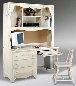 小型欧式风儿童房整体式书柜装修效果图