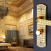 欧式奢华风格经典卧室木门效果图