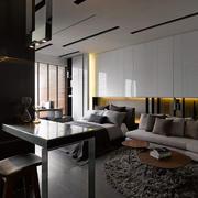 公寓客厅沙发布置