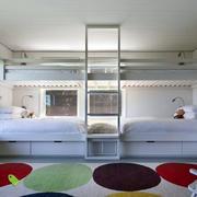 欧式简约风格白色系儿童房双人室装饰