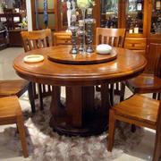 大户型家庭餐厅实木餐桌椅装修效果图